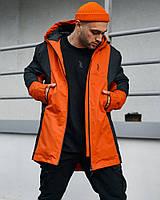 Куртка демисезонная мужская Пушка Огонь Horn Черно-оранжевый