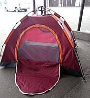 Палатка-автомат 4-местная 210х210х140 см, семейная четырехместная палатка автоматическая для туризма