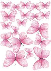 Вафельна картинка для кондитерских виробів, топерів, пряників, капкейків Метелики (листок А4) 24
