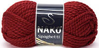 Пряжа Nako Spaghetti 11214 терракот (нитки для вязания Нако Спагетти) 25% Шерсть, 75% Премиум акрил