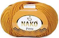 Пряжа Nako Peru 5419 грязно-оранжевый (нитки для вязания Нако Перу) 25% альпака, 25% шерсть, 50% акрил