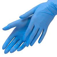 Нитриловые перчатки нестерильные синие неопудренные одноразовые 100 шт/уп. размер М