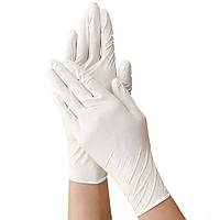 Нитриловые перчатки нестерильные неопудренные медицинские одноразовые 100 шт/уп. белые размер М