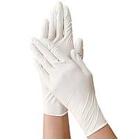 Перчатки нестерильные неопудренные Нитриловые медицинские 100 шт/уп. белые размер L