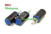 680 Ом WXD3-13-2W Резистор многооборотный  проволочный переменный