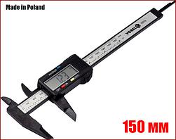 Штангенциркуль цифровой электронный 150 мм 0.1 мм пластик Vorel 15113