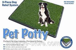 Великий туалет для собак та цуценят з штучною травою Potty Patch