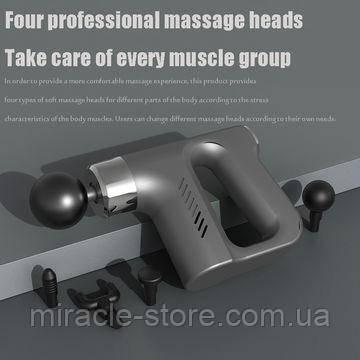 Ударний масажер для всього тіла FASCIAL GUN KH-740 портативний вібромасажер