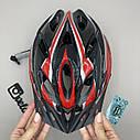 Шлем велосипедный красный, фото 2