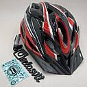 Шлем велосипедный красный, фото 6