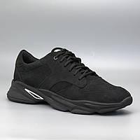 Кроссовки мужские черные нубук мужская обувь больших размеров Rosso Avangard ReBaKa Nub Black Gal BS