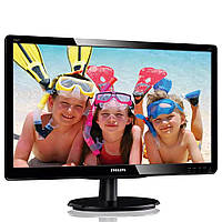 "Монітор 18.5"" 1366*768 Philips 196V4LSB2 LED 90*65 яр.200 кін.600 5мс VGA DVI чорний бу"