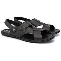 Черные сандалии трансформеры босоножки кожаные мужская обувь больших размеров Rosso Avangard BS Sandals