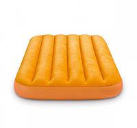 Надувной велюровый матрас 66803 в сумке (Желтый)
