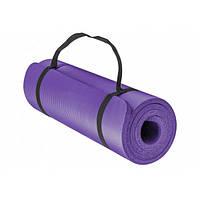 Коврик для йоги фитнеса и спорта Каремат спортивный OSPORT 10 мм