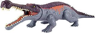 Игрушка динозавр мощный укус 35 см Jurassic World Massive Biters Sarcosuchus Larger-sized Dinosaur Юрский мир