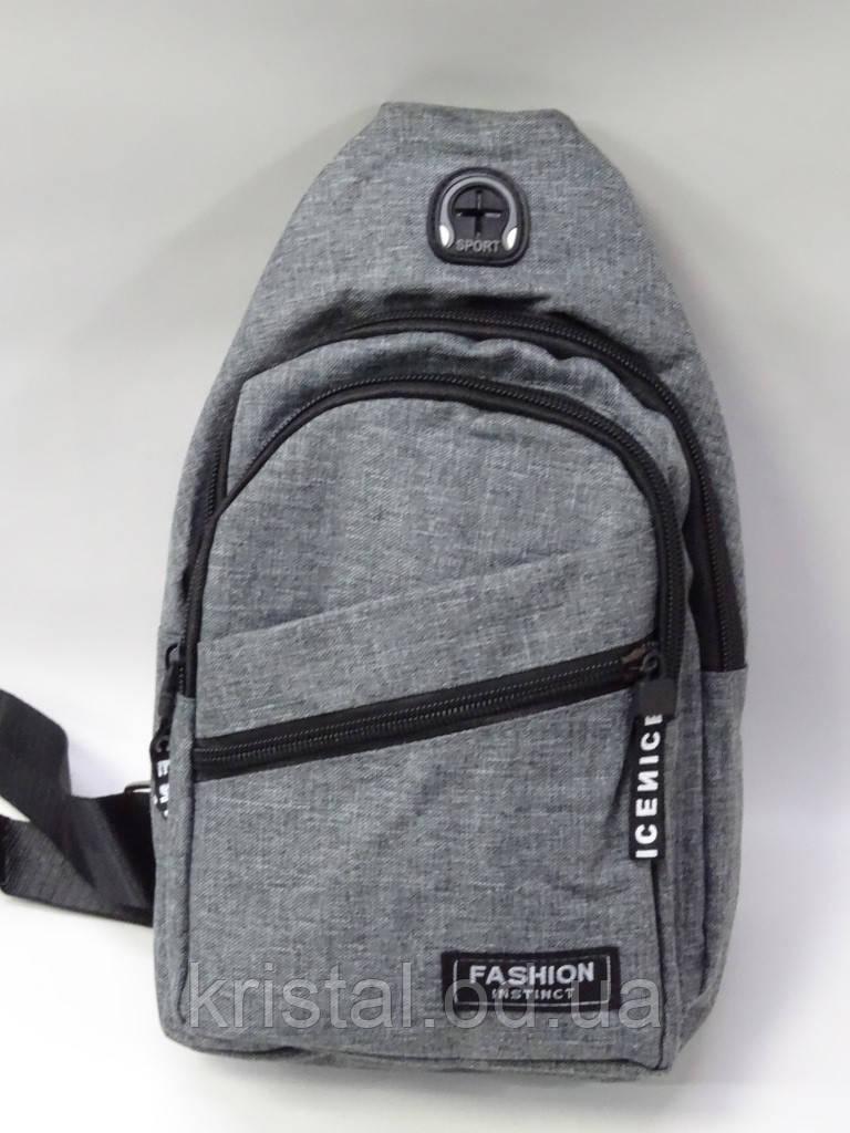 """Мужская нагрудная сумка слинг оптом 16*30 см. серии """"Premium"""" №6791"""