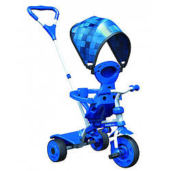 Трехколесный Детский велосипед трайк Y STROLLY Spin 2 в 1 синяя мозаика trike (100910)