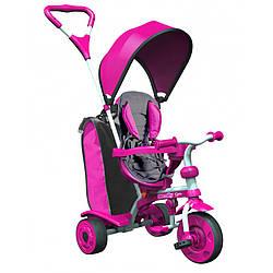 Трехколесный Детский велосипед трайк Y STROLLY Spin 2 в 1 розовый trike (100897)