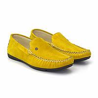 Жовті чоловічі мокасини замшеві літнє взуття великих розмірів Rosso Avangard 708 Alberto Lemon BS