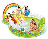 Детский надувной игровой центр с бассейном и горкой Intex 57154 Мой сад, фото 2