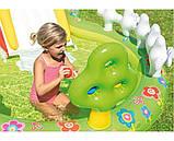 Детский надувной игровой центр с бассейном и горкой Intex 57154 Мой сад, фото 3