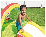 Детский надувной игровой центр с бассейном и горкой Intex 57154 Мой сад, фото 4