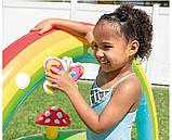 Детский надувной игровой центр с бассейном и горкой Intex 57154 Мой сад, фото 5