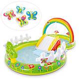 Детский надувной игровой центр с бассейном и горкой Intex 57154 Мой сад, фото 6