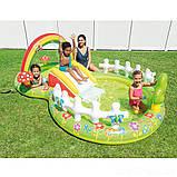 Детский надувной игровой центр с бассейном и горкой Intex 57154 Мой сад, фото 7