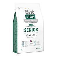 Brit Care Senior lamb & Rice 3кг - корм з ягням для старіючих собак