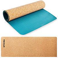 Коврик для йоги Spokey Savasana (original) пробковый, 180х60, каремат, спортивный коврик, мат, толщина 0,4 см