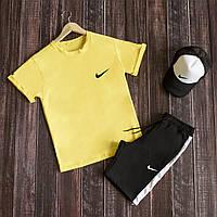 Комплект чоловічий літній футболка + шорти Nike, спортивний костюм чоловічий літній Найк
