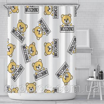 Тканинна шторка для ванни і душа 180х180 см Moschino style