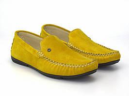 Желтые мужские мокасины замшевые летняя обувь Rosso Avangard 708 Alberto Lemon Vel