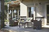 Комплект садовой мебели Allibert by Keter Alabama Lounge Set Cappuccino ( капучино ) искусственный ротанг, фото 8