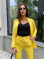 Женский брючный костюм с пиджаком лето