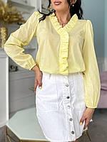Модная блузка женская коттон батал банан