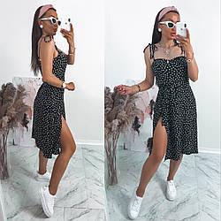 Сарафан жіночій сукня  літня с запахом розміри 42 44 46 48  Новинка 2021 забарвлення 3