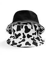 Панама хлопковая в полоску для мужчин и женщин, модная шапка с принтом «Корова», Панамы женские в Украине