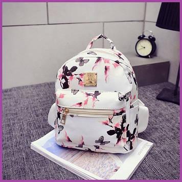 Жіночий маленький модний стильний рюкзак, Міні рюкзаки для дівчат білий,Рюкзак міський жіночий повсякденний