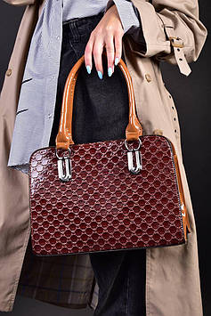 Женская лакированная сумка код 7-919