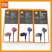 Наушники Xiaomi Mi Earphones Basic Original с микрофоном проводные вакуумные навушники вакуумні проводні сиоми