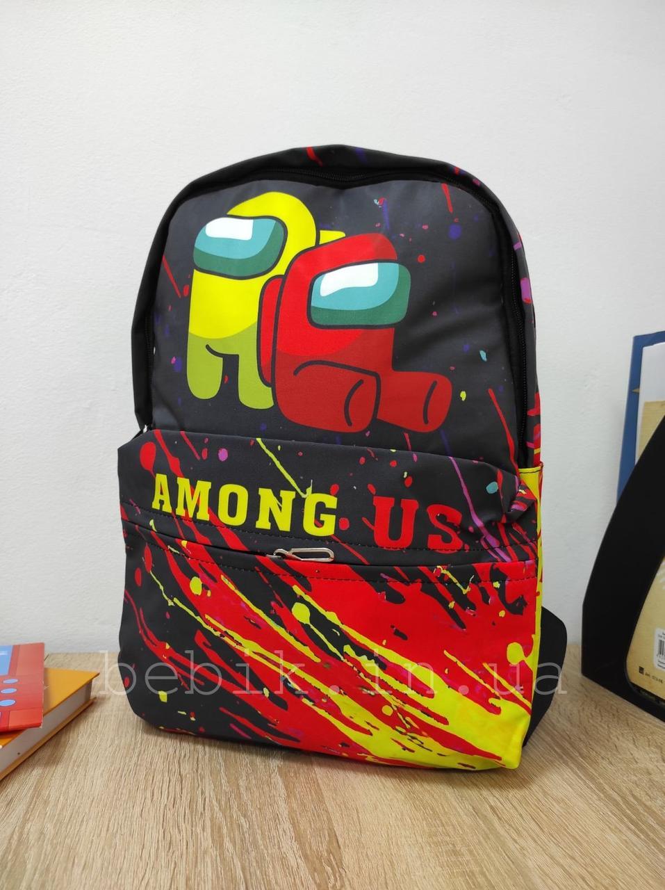 Мини рюкзачок для мальчика с принтом Among Us