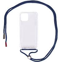 "Чехол TPU Crossbody Transparent для Apple iPhone 12 mini (5.4"")"