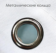 Тканинна шторка для ванни і душа 180х180 см Butterflies on beige, фото 5