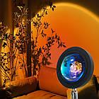 Проекционный светильник заката и рассвета Sunset Lamp Rainbow USB с пультом ДУ и поворотом, фото 3