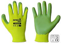 Рукавички Bradas NITROX Mint салатовий нітрил р. 7, RWNM7