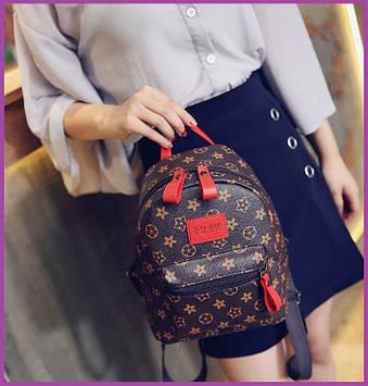 Міні рюкзаки для дівчат коричневий, Рюкзак жіночий, Жіночий рюкзак міський, Міні-рюкзак жіночий стильний
