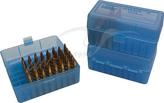 Коробка для патронів MTM кал. 7,62х39. Кількість - 50шт. Колір -  блакитний